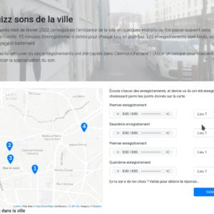 Aperçu du site des sons de la ville